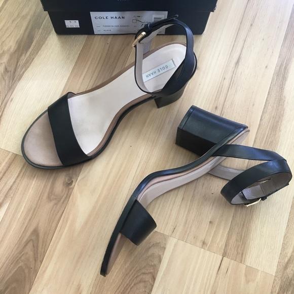 24fb8511c3b3 Cole Haan Shoes - Cole Haan Cambon Mid Sandal 7.5 block heel black
